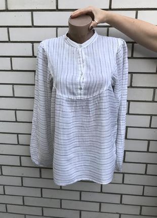Блузка,рубаха в полоску,в этно бохо ,деревенский стиле ,хлопок...