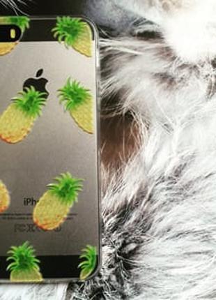 Силиконовый чехол Pineapple Ананас для IPhone 5/5s