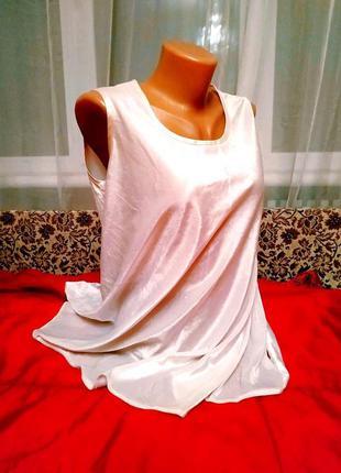 Бархатная туника белая блузка оверсайз р.48/50💖смотри описание