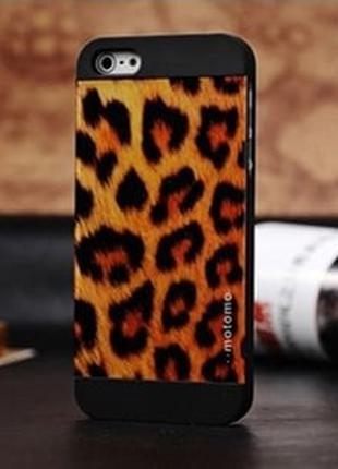 Пластиковый чехол Motomo Leopard для IPhone 5/5s