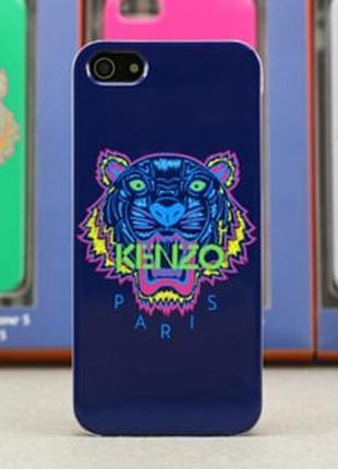 Пластиковый чехол Kenzo Paris фиолетовый для IPhone 4/4s