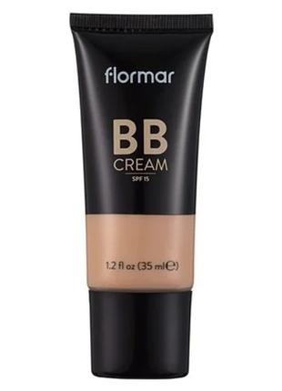 Вв крем с разглаживающим эффектом Flormar 02 выравнивает тон кожи
