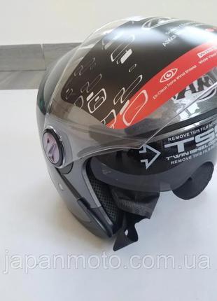 Мотошлем с очками открытого типа шлем для мотоцикла скутера мопед