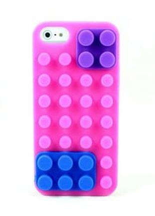 Силиконовый чехол Lego Светло розовый для IPhone 5/5s