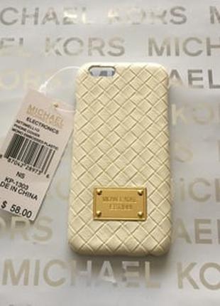 Пластиковый чехол Michael Kors Woven White Белый для IPhone 5/5s
