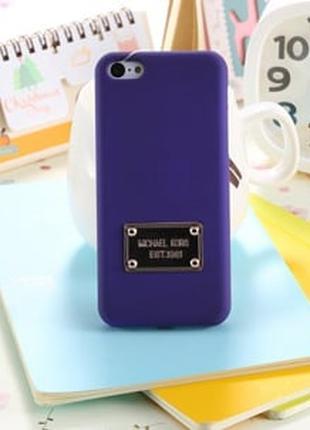 Пластиковый чехол Michael Kors Purple Фиолетовый для IPhone 5/5s
