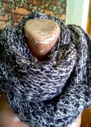 Вязаный шарф - труба снуд хомут