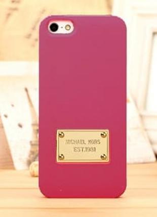 Пластиковый чехол Michael Kors Hot Pink Ярко Розовый для IPhone 5