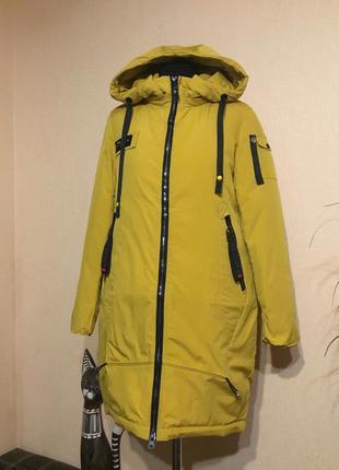 🔥отличная🔥 зимняя длинная куртка парка зима