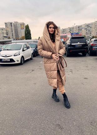 Куртка одеяло, объёмная куртка на зиму