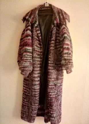 Пальто вязанное женское hand-made,оверсайз