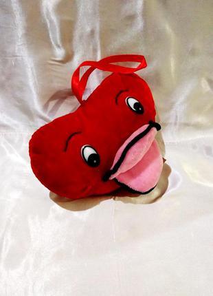Мягкая игрушка сердце, подвеска