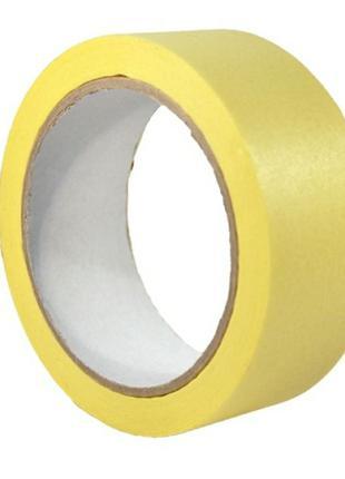 Малярный скотч (лента) 19мм*30м желтая-30 шт.