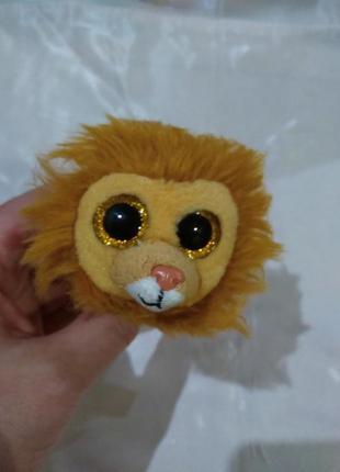 Мягкая игрушка лев глазастик ty