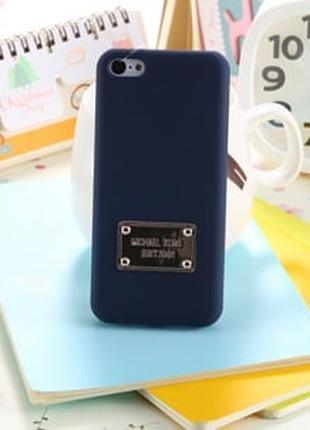 Пластиковый чехол Michael Kors Blue Синий для IPhone 5/5s