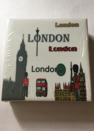 Керамические подставки под чашки набор лондон