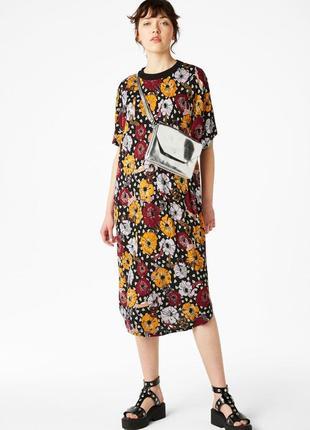 Свободное платье миди oversize женское monki с м