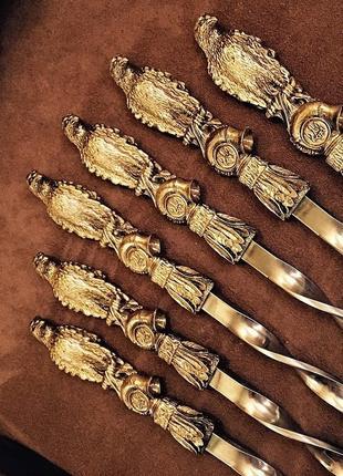 """Подарок в национальном стиле - шампуры с тризубцем """"Хищный ястреб"""