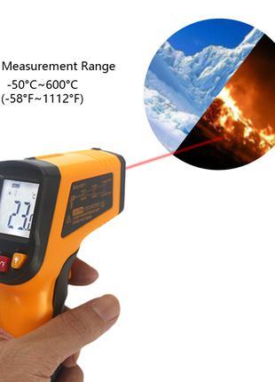 Цифровой Лазерный Инфракрасный Термометр (-50°С до 600°С)