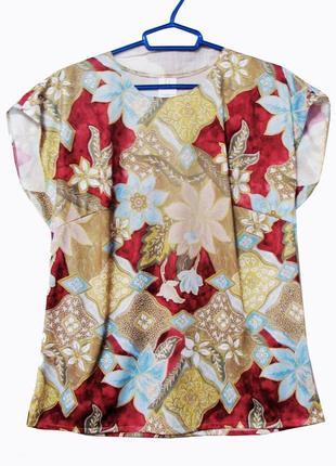 Блузка цветочный принт xxl