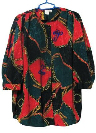 Блузка с принтом xxl