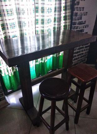 Стул барный стол барный дерево