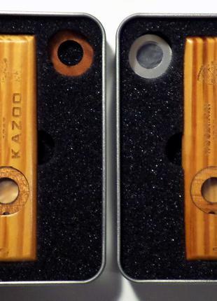 Казу деревянный + мембраны музыкальный инструмент Kazoo