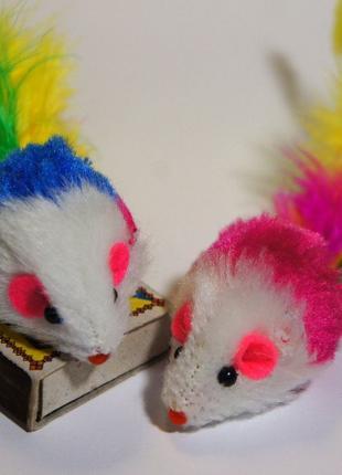 3 шт Мышки игрушечные для кота кошки мышь игрушка коту іграшка...