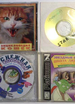 4 шт диски с играми CD Звездные Войны Снежная Королева Игры на...