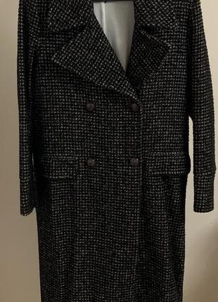 Итальянское новое  пальто клетка размер с/м