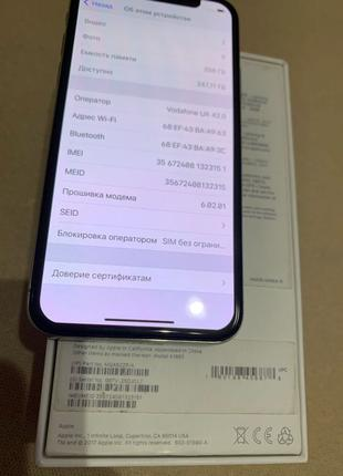 Iphone X 256gb never