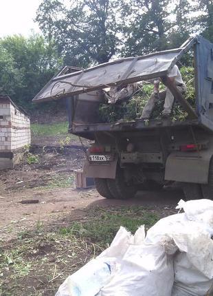 Вывоз строительного мусора, камаз зил газель грузчики киев