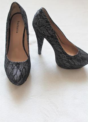 Гипюровые туфли на высоком каблуке, размер 38/ 39 (№42)