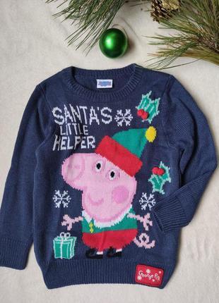 Детский новогодний свитер от george(36), размер 3-4 года