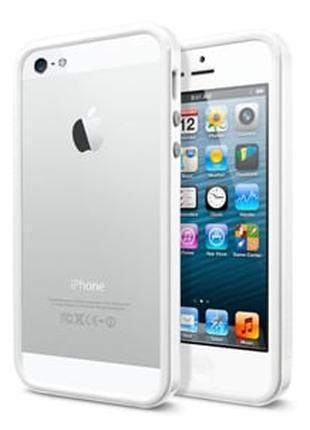 Бампер для iPhone 5 SGP Neo Hybrid EX 5s, цвет Белый