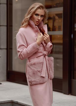 GEPUR розовое пальто