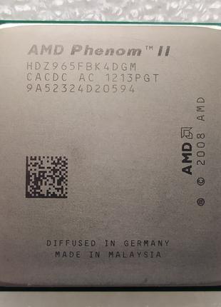 AMD Phenom II X4 965 Black Edition 3400 MHz AM3 AM2+ 125W проц...