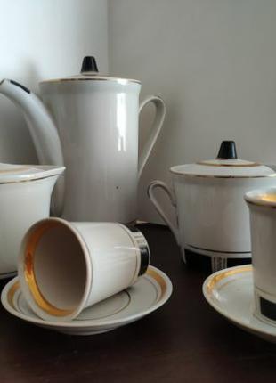 Кофейный фарфоровый сервиз на 6 персон