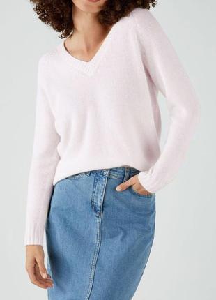 Базовый бежевый айвори пуловер из ангоры fenn wright manson st...