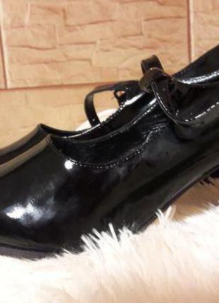 Туфли кожаные  лаковые р-р 41