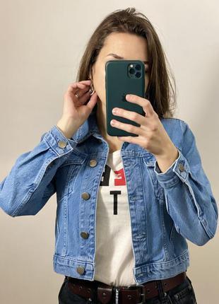 Укороченная джинсовая куртка asos