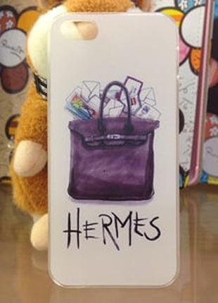 Пластиковый чехол Hermès для IPhone 5/5s