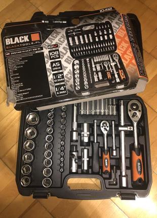 Набор ключей головок инструмента BLACK 108 ед. (Польша)