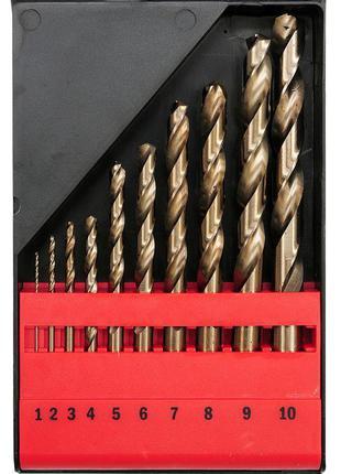 Набор кобальтовых свёрл по нержавейке Yato YT-41603