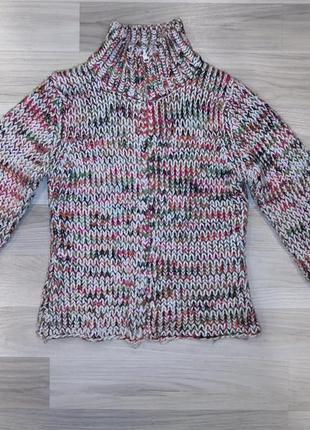 Теплая кофта на змейке terranova терранова вязаный свитер кард...
