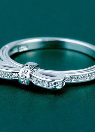 Нежное кольцо 💍 с бантом