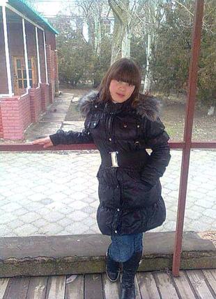 Зимняя куртка пуховик черная
