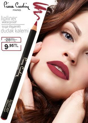 Влагостойкий карандаш для губ pierre cardin red passion/красны...