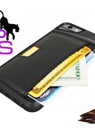 Кожаный бампер для смартфона телефона Iphone Айфона 6 6s