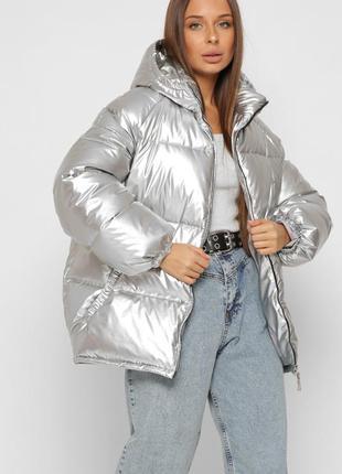 Теплая зимняя куртка пуховик эко пух